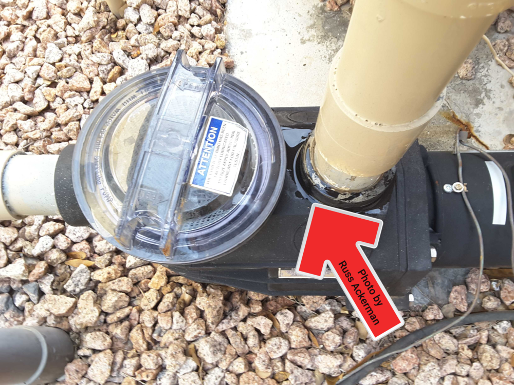 All leaks at pool equipment, no matter how small needs to be repaired.