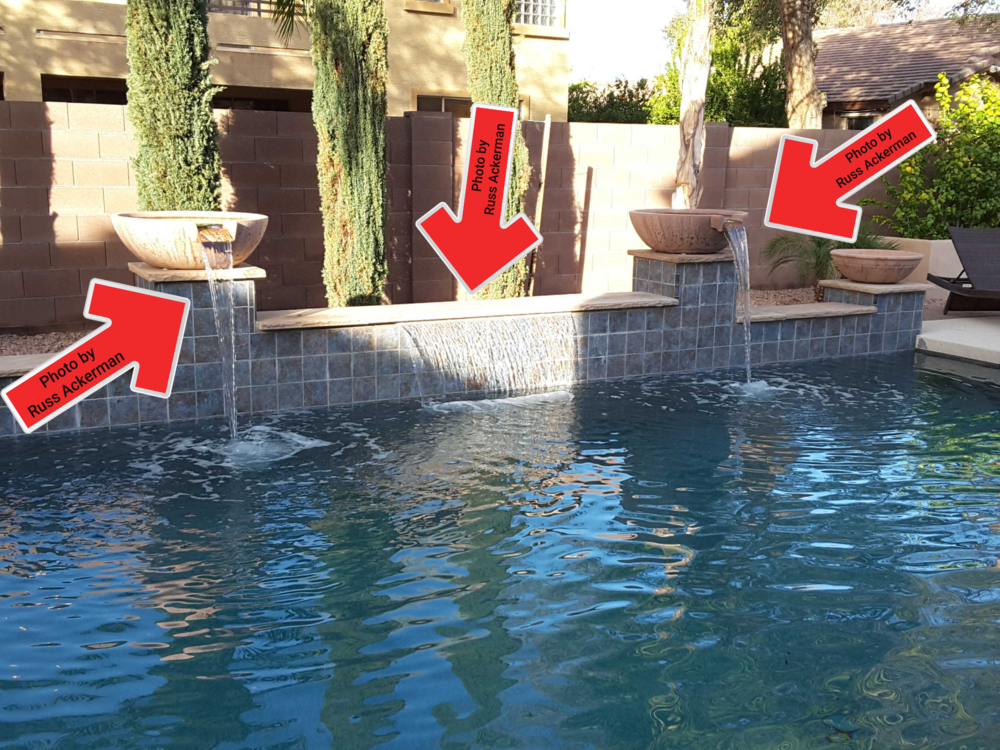 Pool water features are tested only if the valves are labeled.
