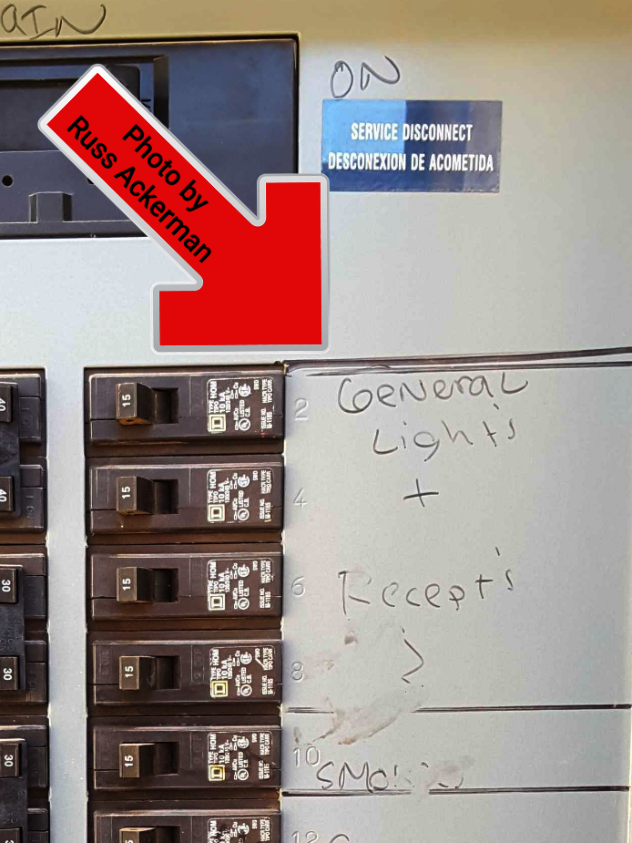Several breakers labeled general lighting or receptacles is not acceptable. Each breaker needs to be properly labeled.