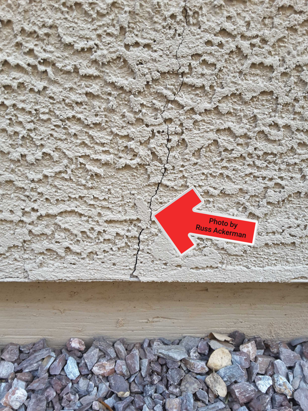 Stucco cracks are very common. A coat of paint is usually all that's needed for hairline cracks. Cracks thicker than the edge of a dime should be repaired.