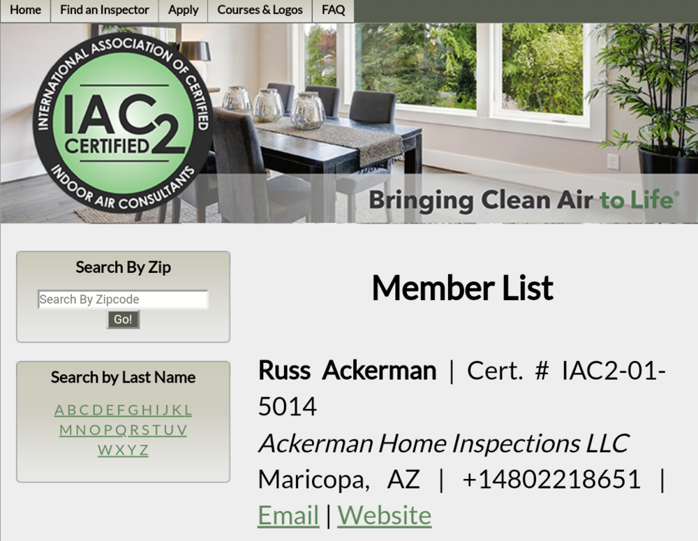 As a Certified Indoor Air Consultant, I am trained and qualified to properly test your home for any potential mold growth. Call me today with your indoor air quality concerns.