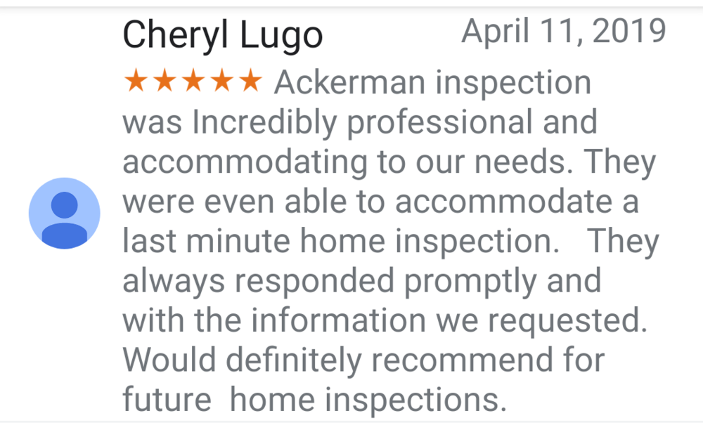 Five star reviews are not hard to come by when you continually provide excellent service.