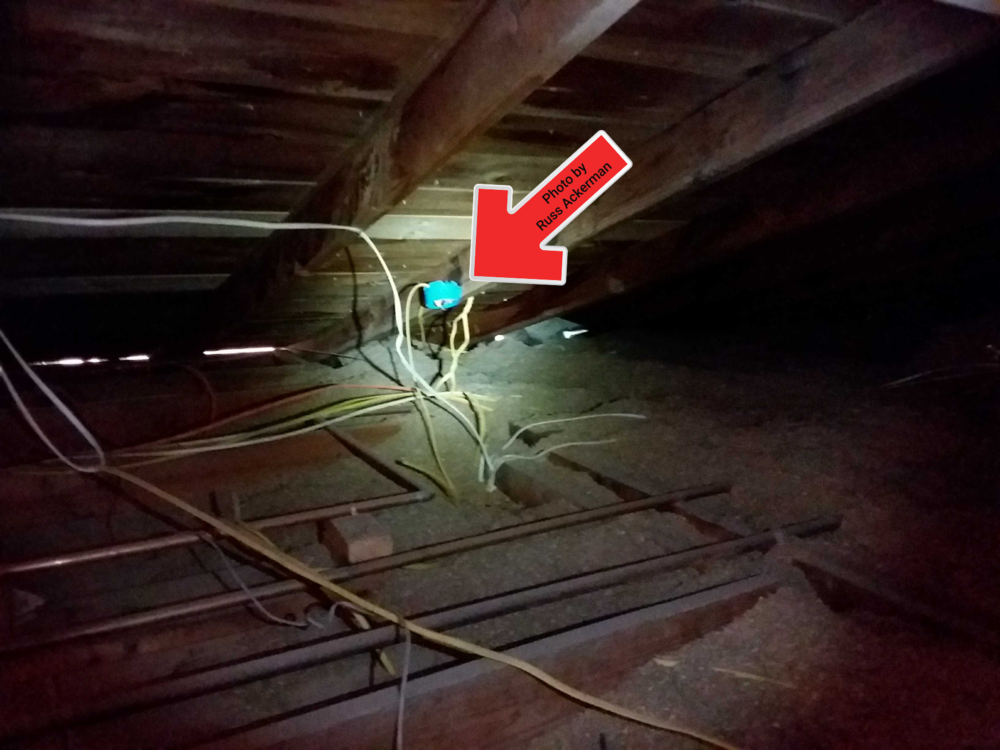 Open junction boxes inside the attic are a common safety hazard. A small spark may cause a fire, even though fire retardant is applied to cellulose insulation.