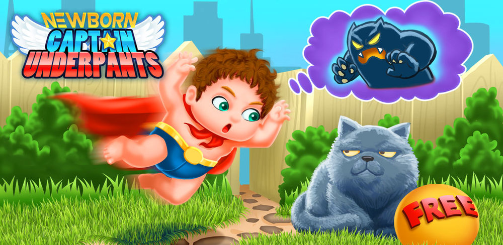 Newborn Baby Captain Underpants - Baby Care Games  Some cute babies need a babysitter. Can you come to take care of the little ones?The baby watched a super hero movie and dream to be one of them! Come to help the baby achieve the dream!