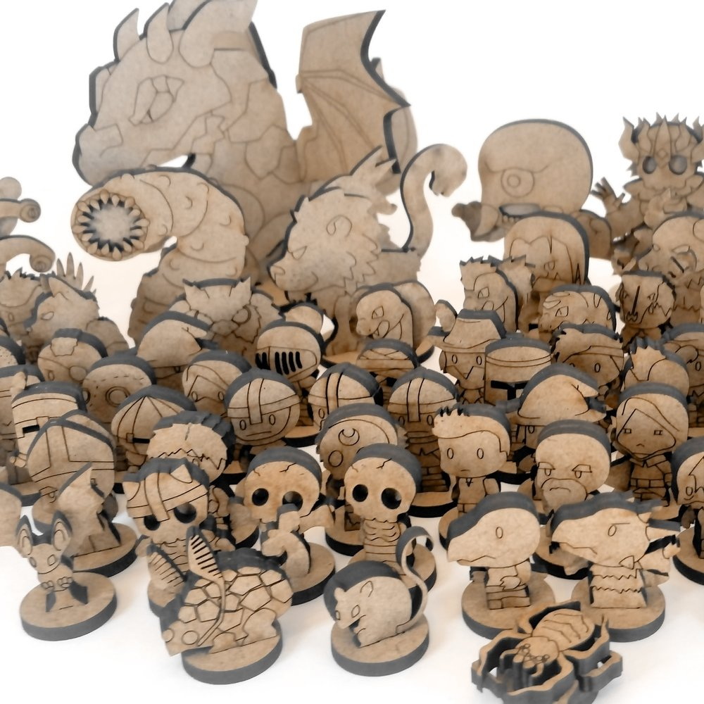 Miniatures - Heroes and NPCs  - Monsters  - Boss Monsters