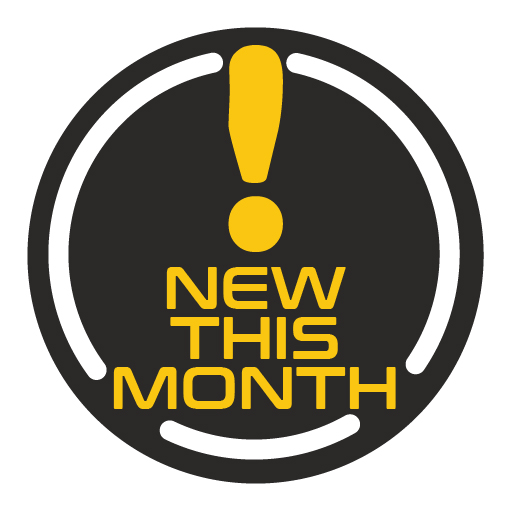 What's New This Month?  Check back every month to see the new stuff.