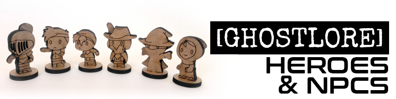 "Heroes & NPCs  Filter our minis to just heroes and ""people"". Products designed by [GHOSTLORE]"