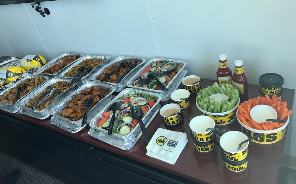 booking events - buffalo wild wings food los angeles