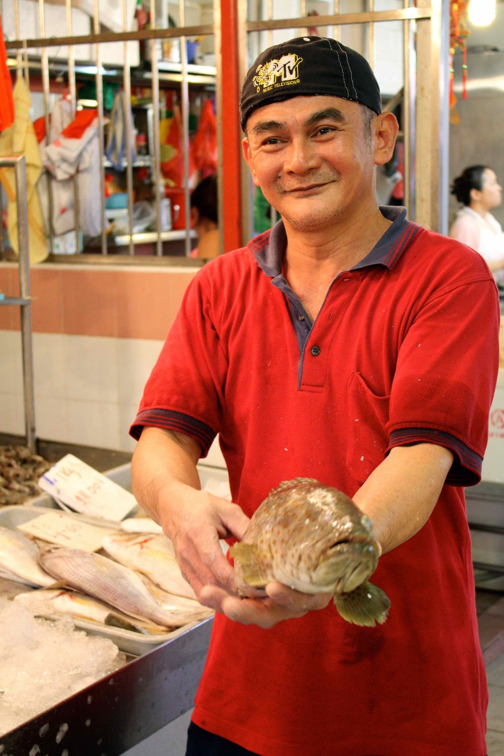 Fishmonger, Singapore, 2011 ©