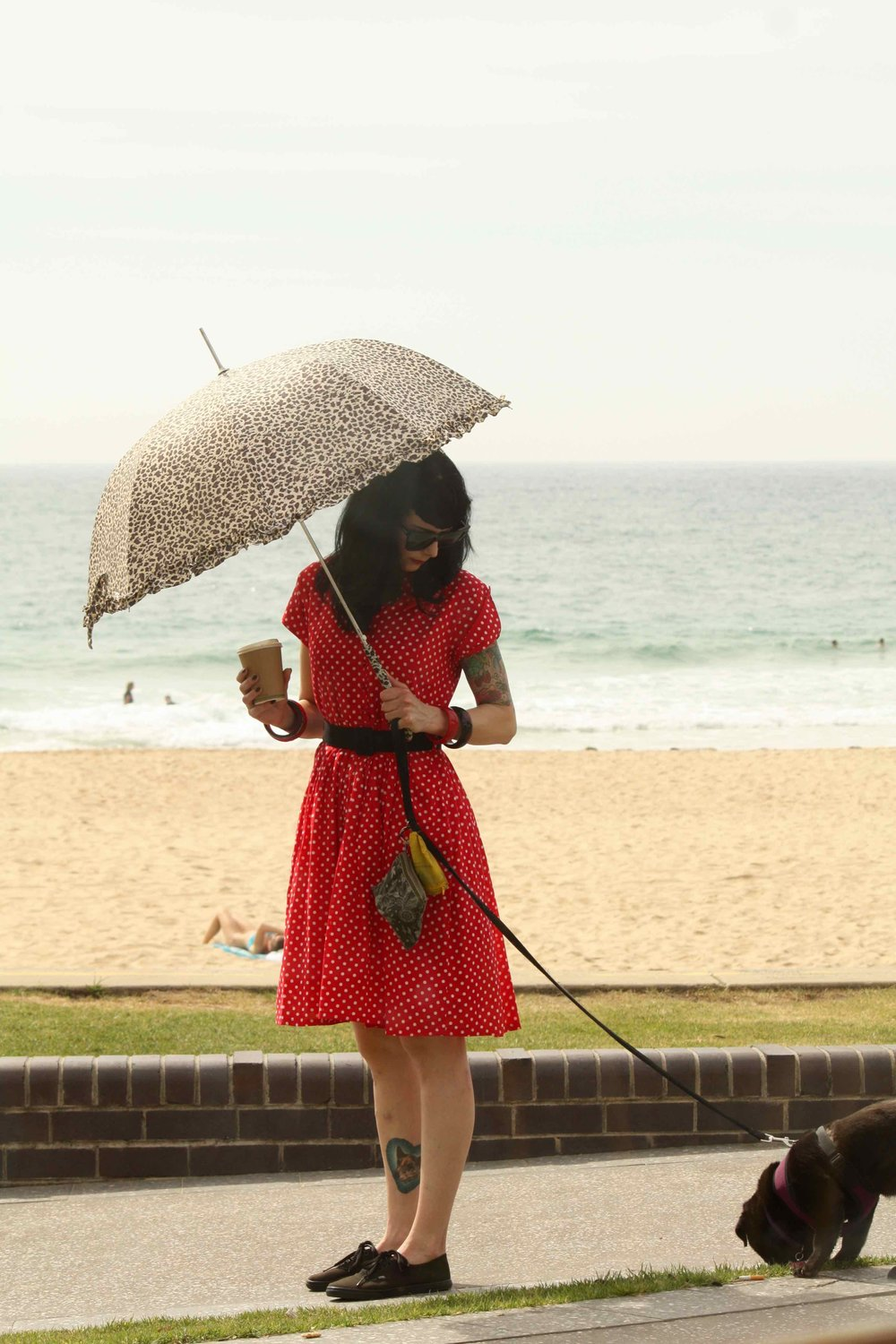 Lady with dog, Wollongong, 2014 ©