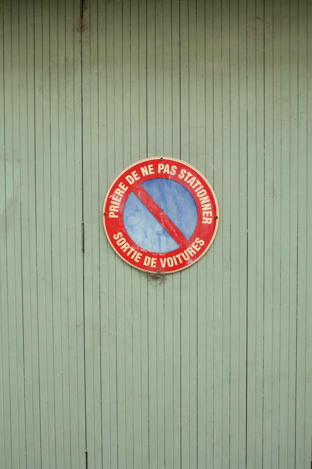 No Parking Sign, Provence, 2012 ©