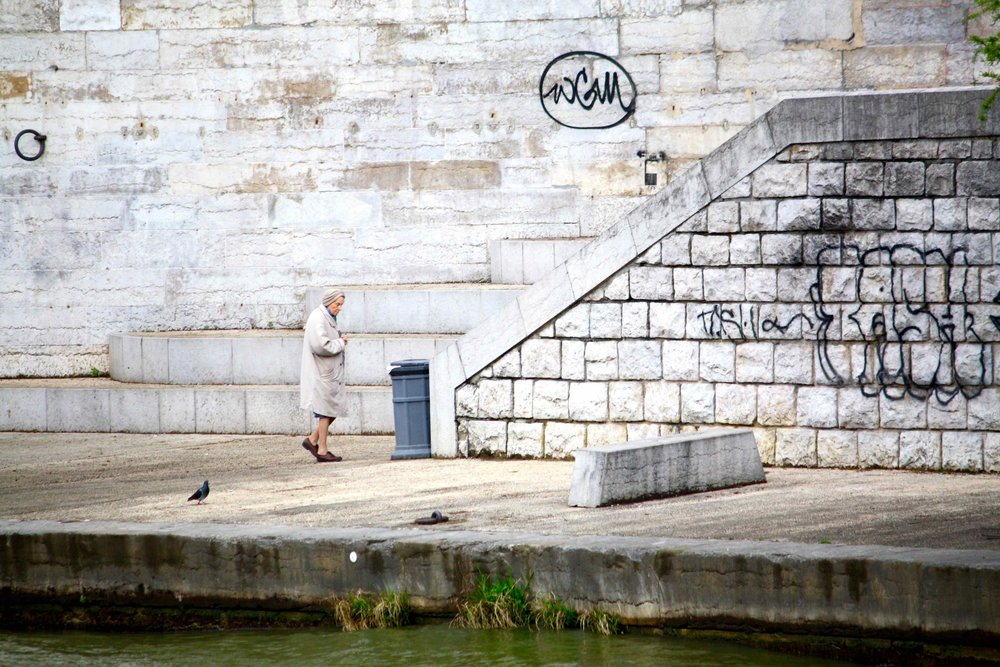 Graffiti, Rhone River, 2012 ©