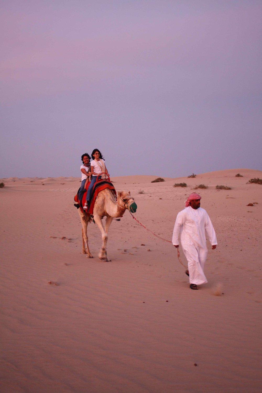 Camel Ride, Abu Dhabi, 2012 ©
