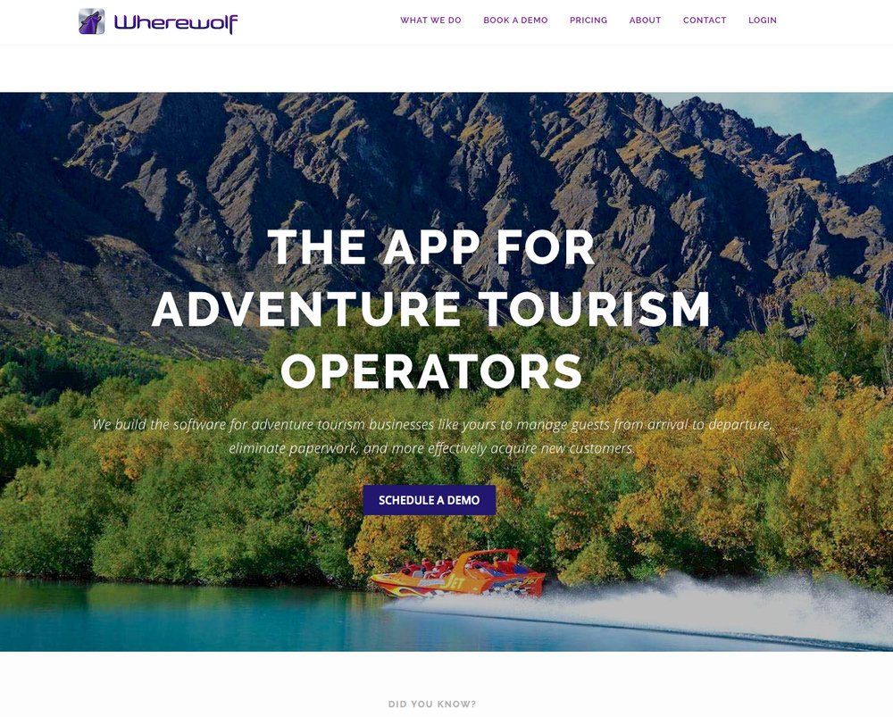 Wherewolf   Wherewolf is an innovative technology company based in Queenstown that creates software and apps for tourism operators. My role with Wherewolf involves interviewing their clients and writing editorial case studies that promote what they do.