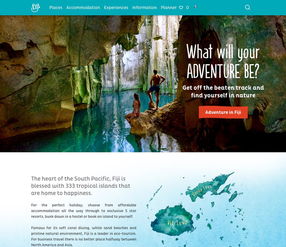 Sparks Interactive   I work with Sparks Interactive to create compelling website copy for their client, Tourism Fiji. I have researched and written a number of stories and short blog posts for the site. Most recently I completed a full re-write of the13 unique destination pages – from sunny Suva to the isolated archipelago of the Lau Islands.