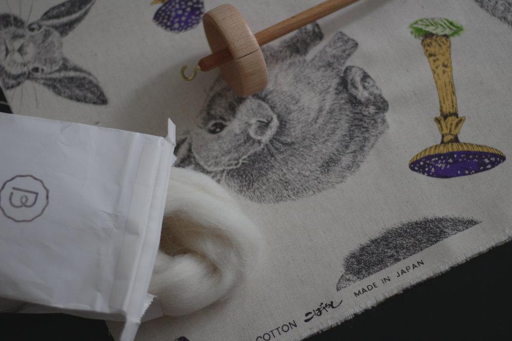 Tissu acheté à la  Mycoboutique  - 85% coton, 15% lin japonais
