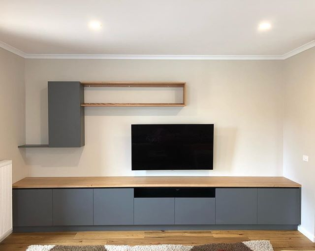Timber and Two Pack Storage. #sawdusttimberfurniture #tvcabinet