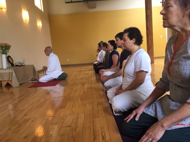 Meditation and chanting. Being conscious of the breath and allowing the body to become more centered