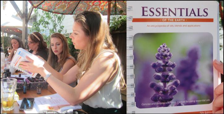 Teaching a class at Julie's Coffee & Tea Garden in Alameda, CA