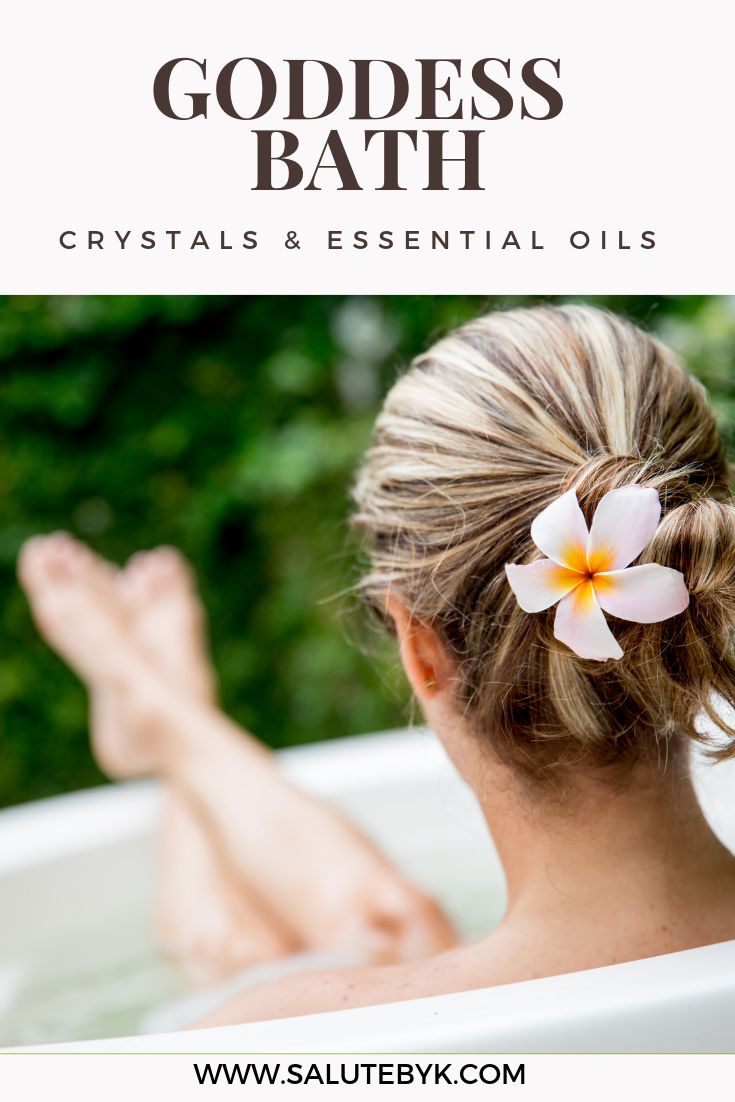 How to create a Goddess Bath with Epsom Salts, Crystals and Essential Oils.