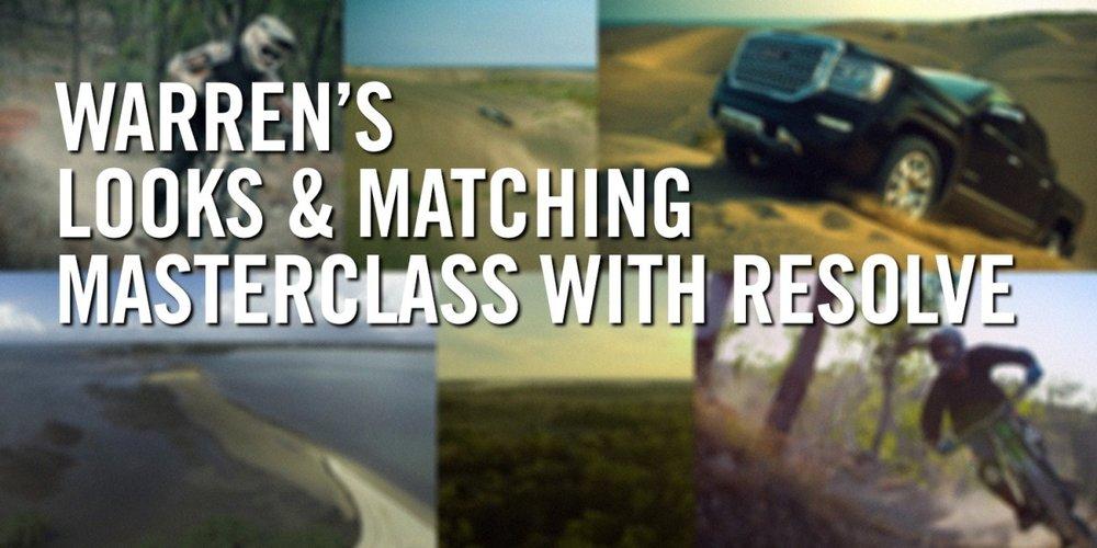 Warren's Looks and Matching Masterclass with Resolve, Warren Eagles, Freelance Colorist, Brisbane, Australia