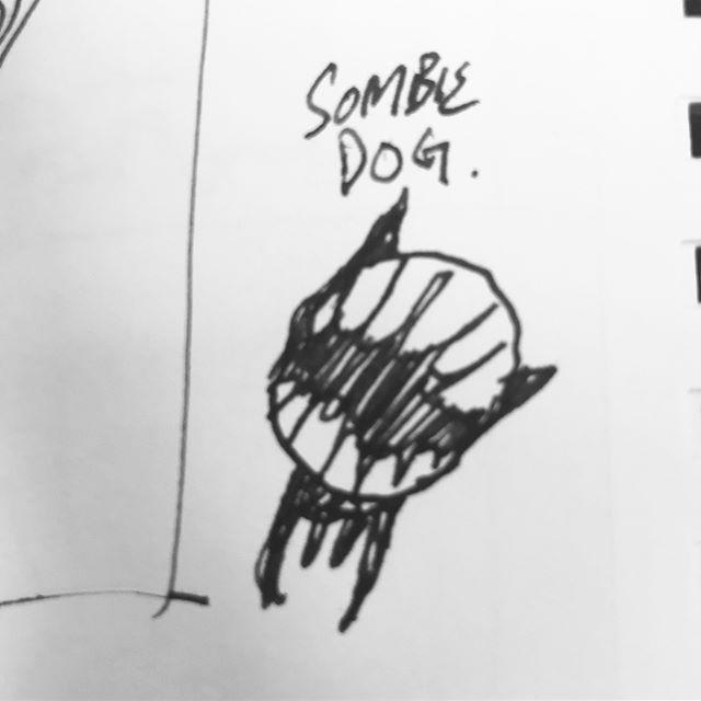 Doodle of my dog 'Sombie' more coming soon. #frenchbulldog #littlemonster #doodle #sketch #illustration #characterdesign