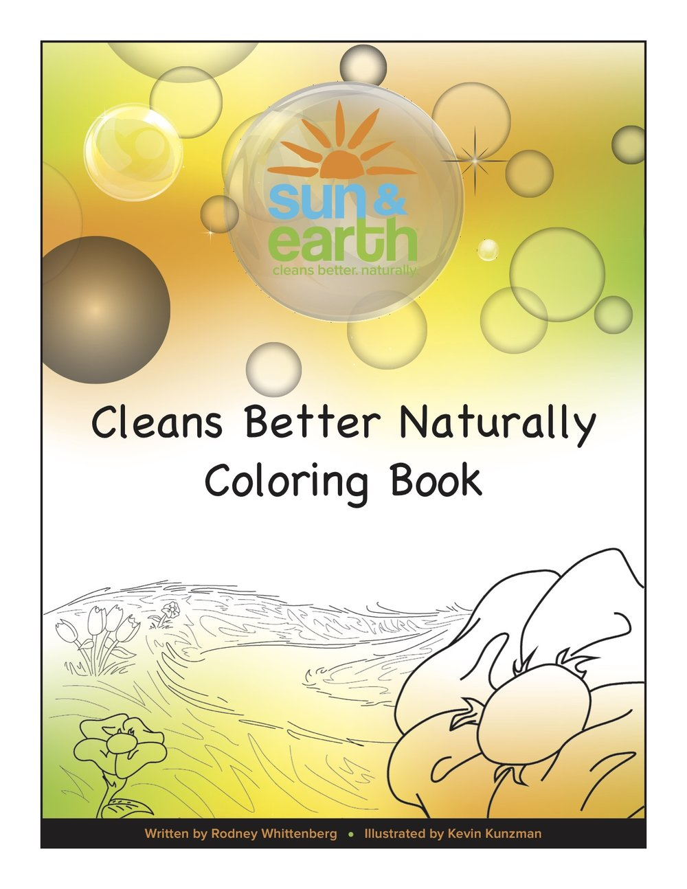 Sun & Earth Cleans Better Naturally Coloring Book