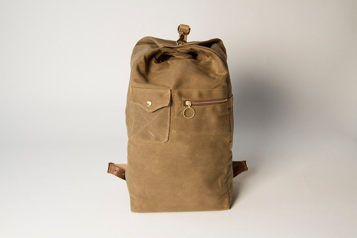 1cfe90488dfd Military Duffle Backpack (Ranger Tan) — Collected Works Co.