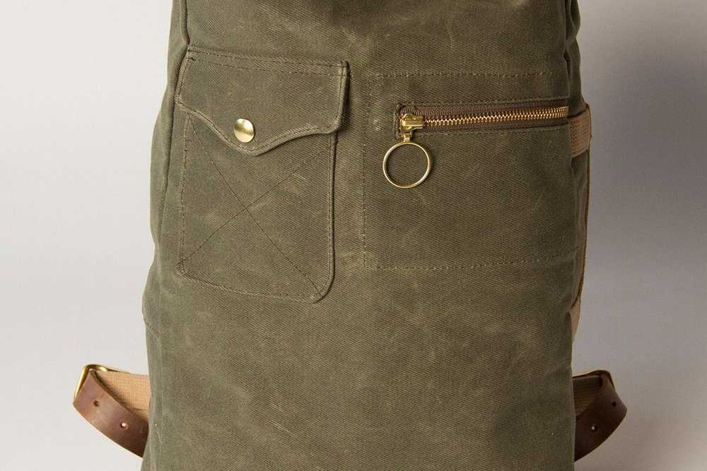 Military Duffle Backpack (Olive) — Collected Works Co. 15a22ca4112