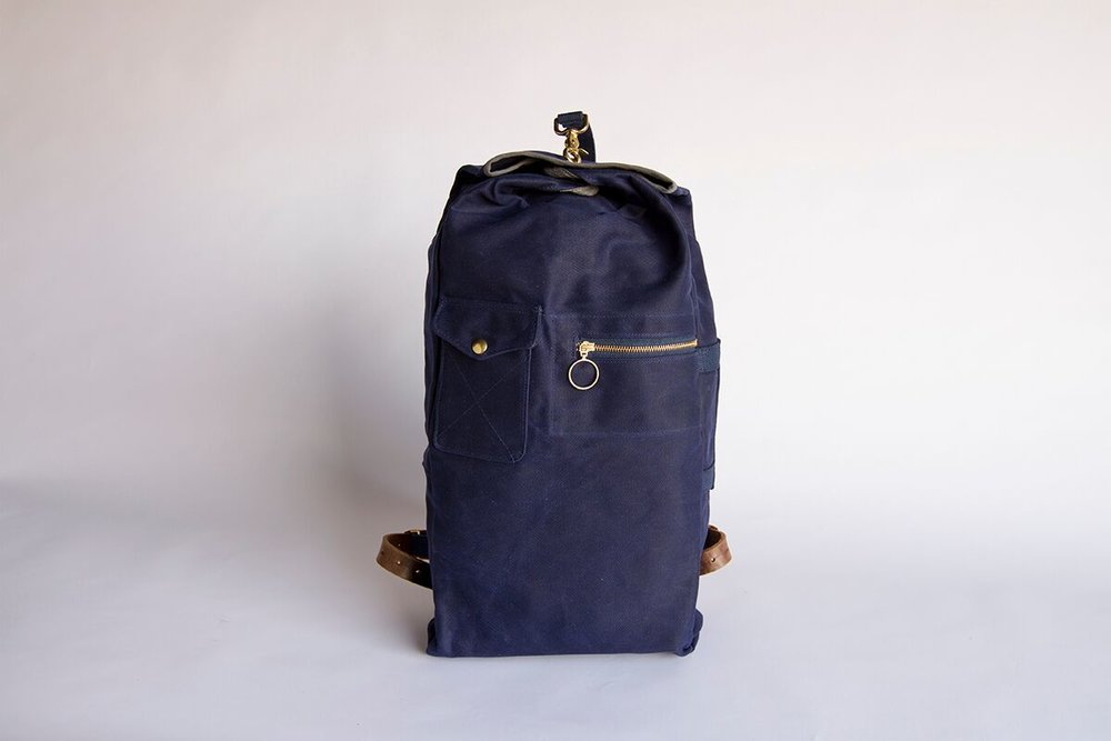 Military Duffle Backpack (Navy) — Collected Works Co. f184ac9305a