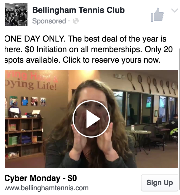 Cyber Monday Sale Facebook Video Ad