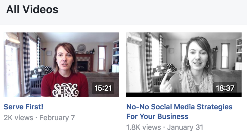 jackie ellis facebook video titles