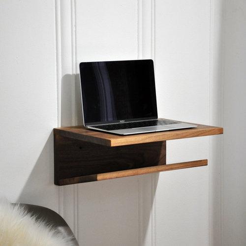 Wfh Mini Desk Modern Wall Mounted Small Standing Desk Handmade
