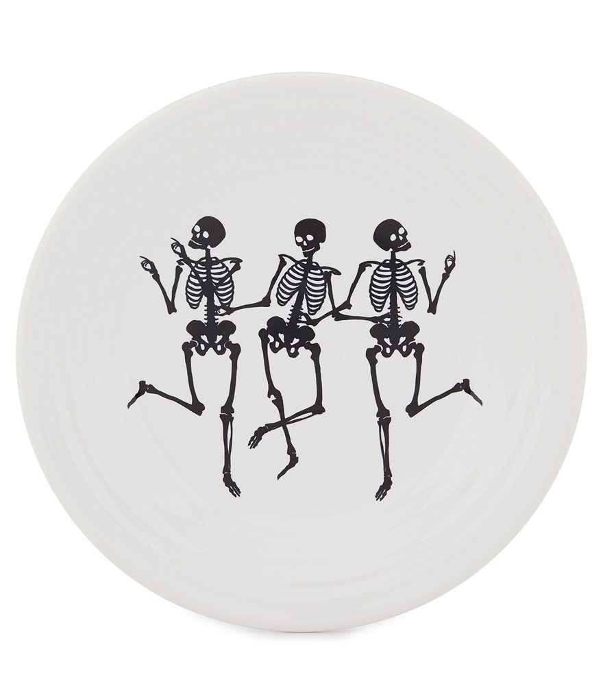 Dancing Skeletons Luncheon Plate