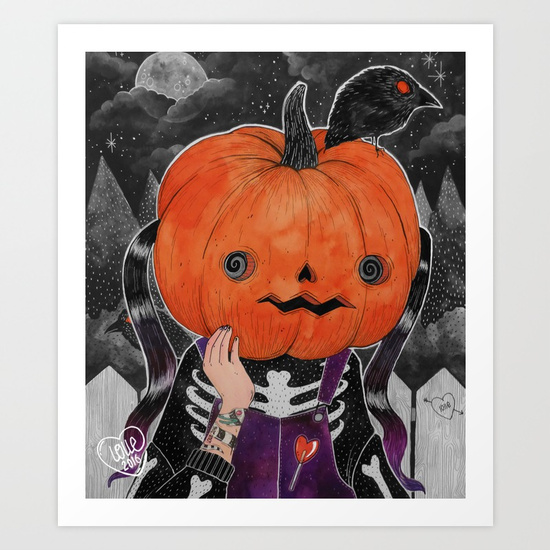 GOSH! I'M A PUMPKIN! print by LOll3