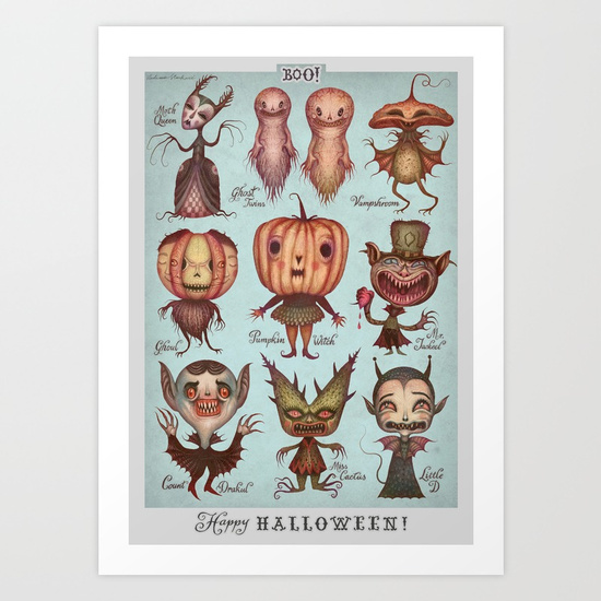 Happy Halloween! print by Vlad Stankovic