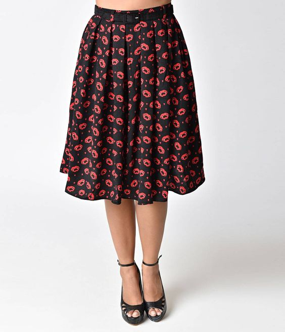 Vampire Sulpicia High Waist Swing Skirt