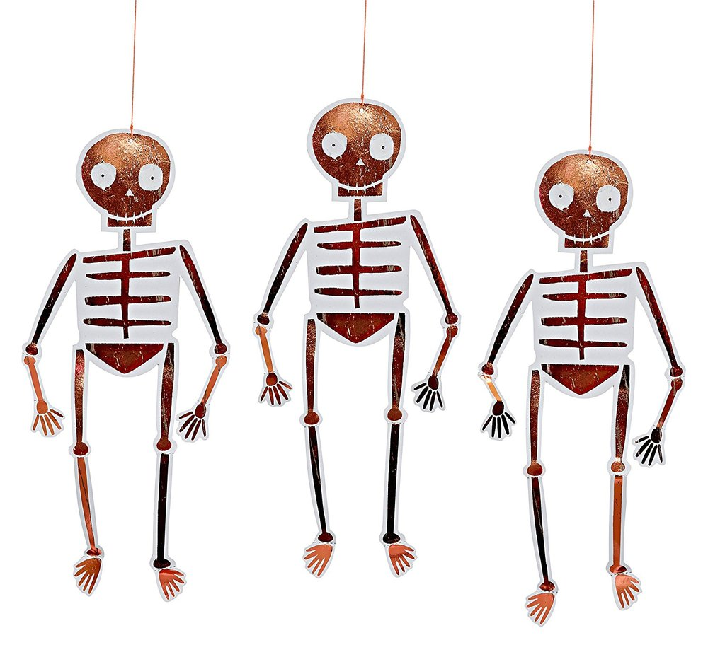 Meri Meri Hanging Skeleton Decorations