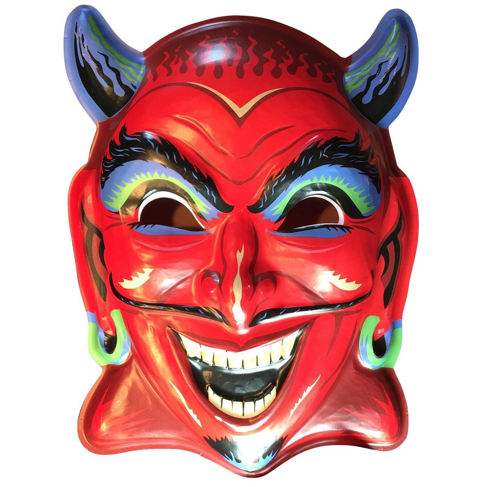Ben Cooper Fun House Devil, Vac-Tactic Plastic Mask Wall Decor
