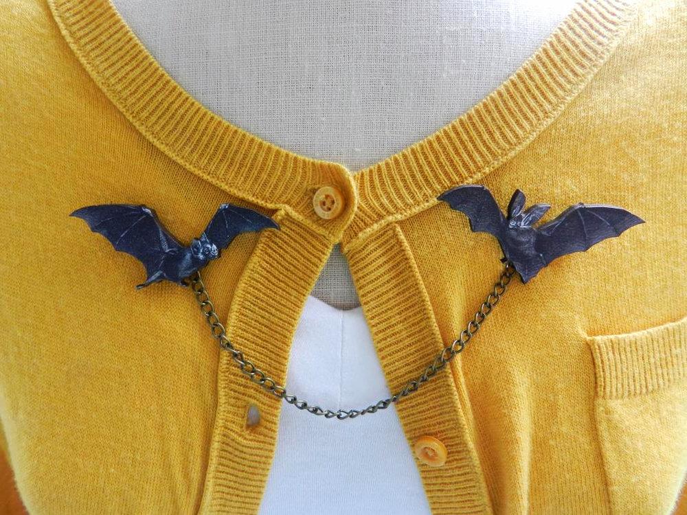 Bat Sweater Guard Brooch
