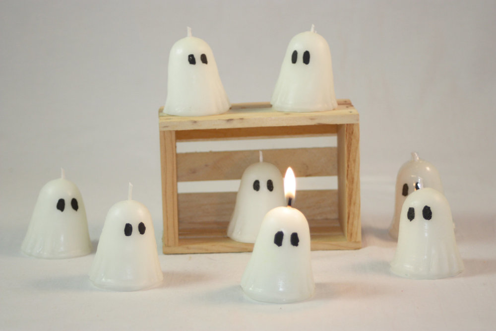 Votive Ghost Candle