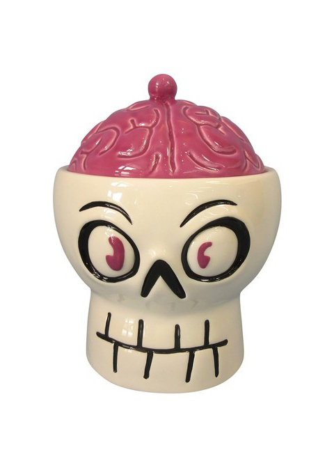 Ceramic Skull & Brain Candy Bowl