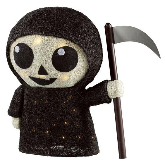 Lit Halloween Sisal Reaper