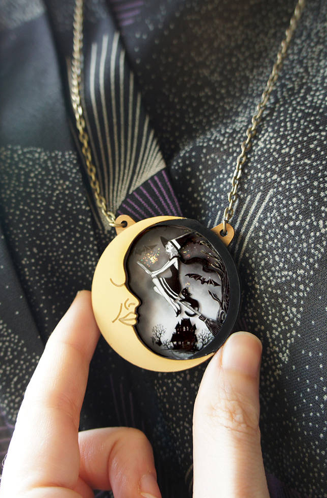 The Witch. Brooch or Necklace by LaliBlue