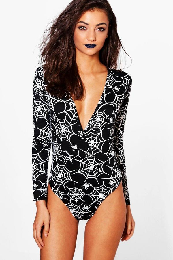 Halloween Spiders Web Bodysuit