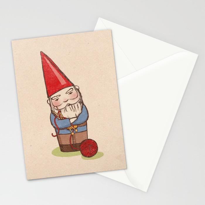 - Knitting Gnome card