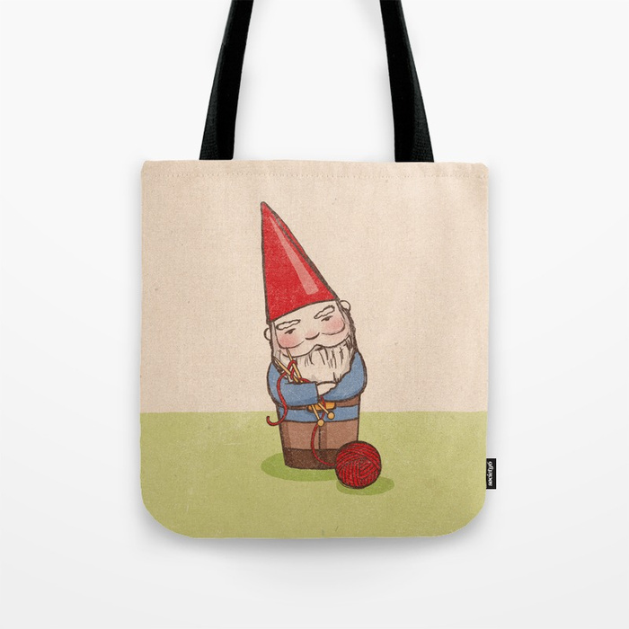 - Knitting Gnome print