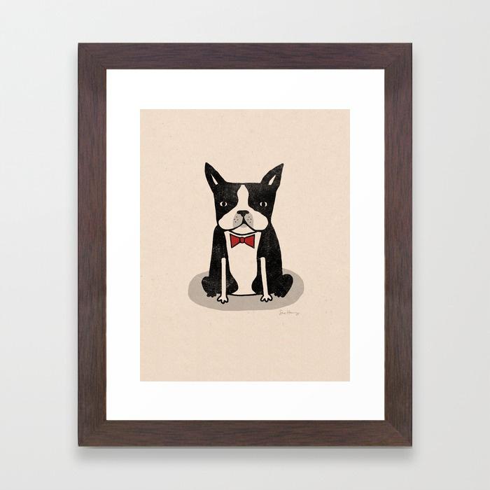 - Boston Terrier framed print