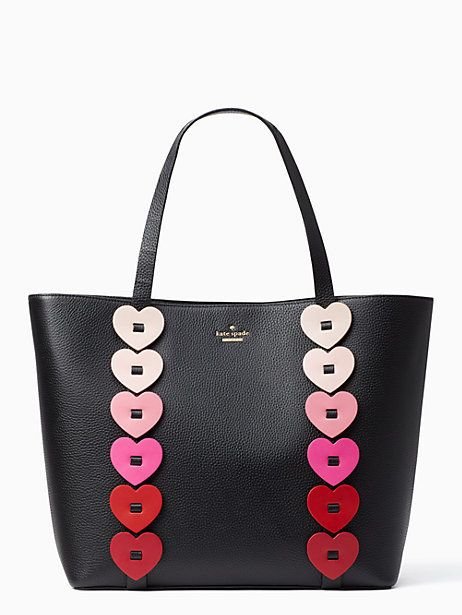 Yours truly ombre heart tote
