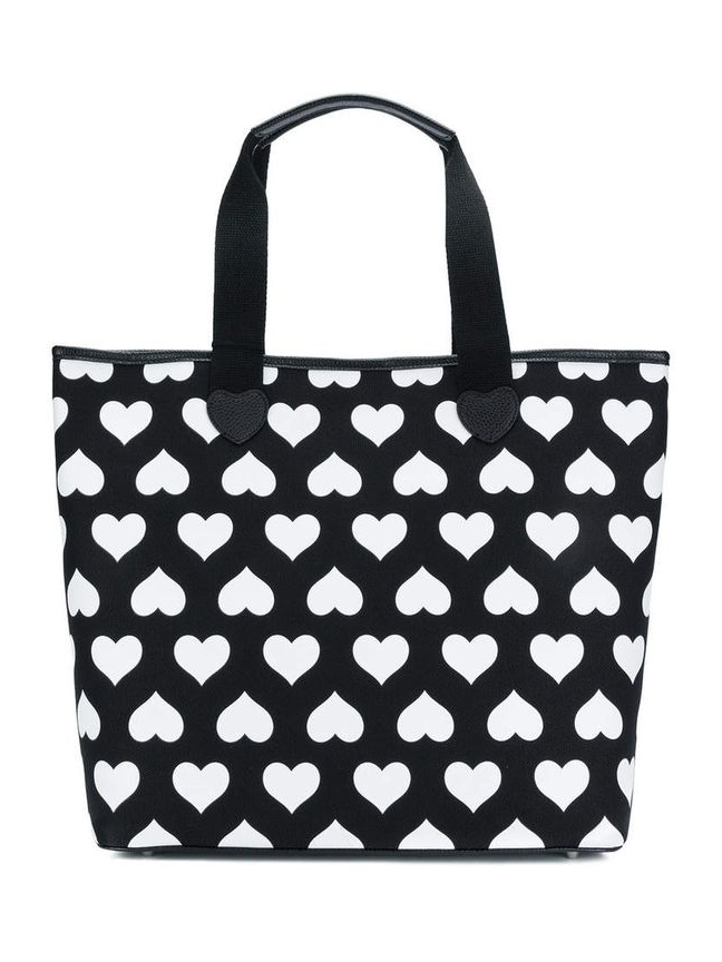 TWIN-SET  heart print shopper tote